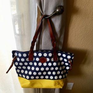 Dooney & Bourke Bags - Dooney & Bourke Navy & Yellow Shopper